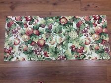 VALANCE FRUIT APPLES GRAPES PINEAPPLE 78X17 RED GOLD GREEN HANDMADE KITCHEN WOW!