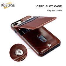 KISSCASE Retro Vertical PU Flip Leather Case for Apple iPhone 6 7 8 X 11 Pro Max