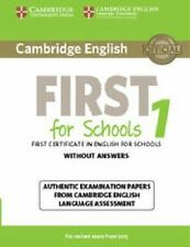 FCE Practice Tests: Cambridge English First 1 for Schools : Authentic...