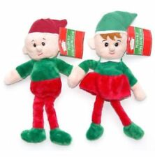 "NEW ~ 12"" Holiday Christmas Elf Little Helper Plush Toys ~ Set of 2 Boy & Girl!"
