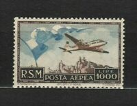s33537 SAN MARINO 1951 MNH L.1000 Bandiera  Posta Aerea  1v #98