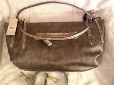 NEW! CLARKS HANDBAG! STORMY BRONZE WITH REMOVABLE SHOULDER STRAP!