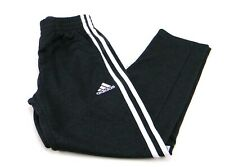 adidas Boy's Tapered Trainer Active Running Pants 3-Stripes Size M-10/12 Black
