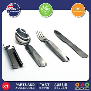 1* Outdoor Camping Stainless Steel Portable Fork knife folk spoon silver