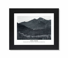 Ansel Adams B/W Photo Panorama Rocky Mountain Park Wall Picture Black Framed