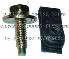 LONG U NUTS & 1/4 YELL FENDER BLTS 24 FOR CHRYSLER FOR DODGE FOR PLYMOUTH (9516)