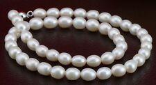 """18"""" 12-13mm genuine natural south sea white pearl necklace DA38"""