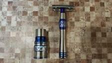 "Luxory Titanium custom Handle Double Edge Safety Razor""Imperial""set"