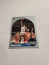 1990-91 NBA Hoops # 233 SAM VINCENT w/Michael Jordan