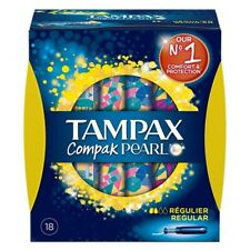 TAMPAX COMPAK Pearl, Regular, 18 pieces