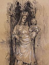 Vierge à l'enfant Beauvais Chapelle dédicace au curé de St Mesmin Orléans Olivet