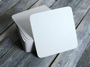 100x Sovie Horeca Bierdeckel aus Bierfilzpappe in Weiß, 9,3 x 9,3 cm - neutral