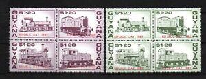 Guyana 1989 old set train/railroad stamps (Michel 2502/09) nice MNH