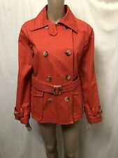 ZARA COAT JACKET WOMENS ~ SIZE LARGE ~ GREAT COND DOUBLE BREASTED STYLE W/ BELT