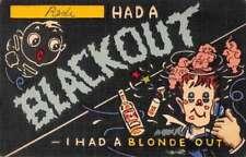 Greetings Alchohol Drinking Comic Humour Black Americana Elephants PC J74822