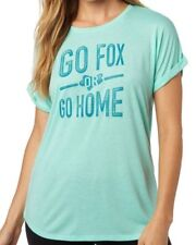 NWT WOMENS FOX RACING GO FOX OR GO HOME ROLLED SLEEVE TOP TEE SHIRT S SMALL