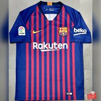 Authentic Nike Barcelona 2018/19 Home Jersey. Size M, Excellent Condition.