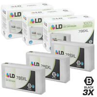 LD 3pk Reman Black Ink Cartridge for Epson 786XL T786XL120 WF-5110 WF-5190