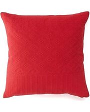 Chaps Sarah Floral Matelasse Throw Pillow (1) ONLY! Red 18 in Square Cotton