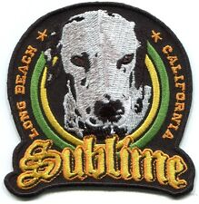 SUBLIME long beach lou dog EMBROIDERED IRON-ON PATCH **FREE SHIPPING**  -d 39026