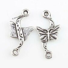 100pcs Butterfly Alloy Connector Antique Silver Pendant Fit Handmade Carfts L