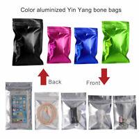 Metallic Matte Zip Lock Bags Aluminum Foil Mylar Resealable Food Package Pouches