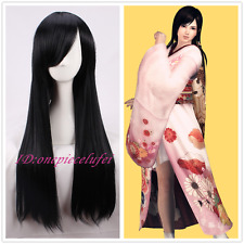 DOA Dead Or Alive KOKORO Long Straight Black Anime Cosplay Wig +a wig cap