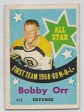1969 O-PEE-CHEE # 212 BOBBY ORR ALL STAR NICE CARD