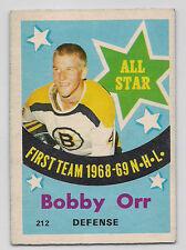 1969 O-PEE-CHEE # 212 BOBBY ORR ALL STAR NICE CARD