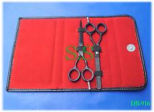 "6"" Professional Hair Dressing Scissors & Thinning BLACK Scissors Kit DB-916"