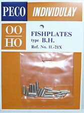 PECO IL-21X  Pack of 25 x Scale Size Fishplates For Code 95 4mm Bullhead Rail 1s