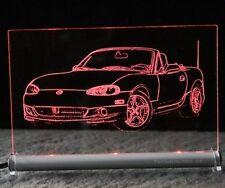 MAZDA mx5 come auto incisione su lastra di LED MX 5