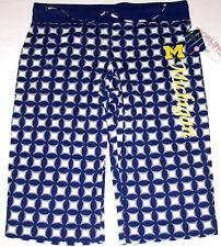 Michigan Wolverines Sleep Capri Pants Women's Size Large, NWT