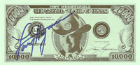 LARRY HAGMAN GENUINE AUTHENTIC SIGNED $10,000 DOLLAR BILL  PHOTO AFTAL & UACC