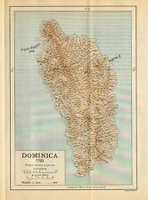 MAP/BATTLE PLAN ~(SMALL) DOMINICA DURING 1795 ~ the CAMPAIGNS of the WEST INDIES