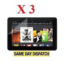 "3 X Amazon Kindle Fire HDX 7"" inch 2013 LCD Screen Protectors Cover Film"