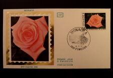 MONACO PREMIER JOUR FDC YVERT  1297    ROSE CATHERINE DENEUVE     1,80F   1981