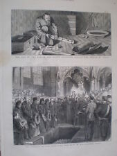Funeral of the late Lord lawrence Westminster Abbey 1879 old print