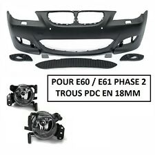 PARECHOC PARE CHOC AVANT M5 BMW SERIE 5 E60 E61 PHASE 2 LCI + 2 ANTIBROUILLARD