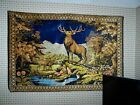 """Vintage Tapestry Wall Hanging Italy STAG AND DOE'S R.T. Co NY Italian 73""""X48"""""""
