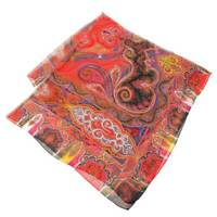 Etro Silk Paisley Pattern Large Scarf Shawl Multi Colored Secondhand Appraised