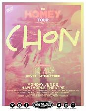 "CHON / TERA MELOS ""THE HOMEY TOUR"" 2017 PORTLAND CONCERT POSTER- Prog Rock Music"