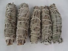 "5 x White Sage Smudge Stick / Wands: 4 to 5 "" House Cleansing Negativity Removal"