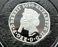 2020 Brexit 50p Coin New Version Medal Boris Johnson Lets Get It Done Bu Proof
