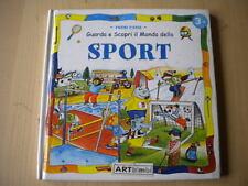 Guarda e scopri il mondo dello sportLibro bambini cartonato illustrato calcio