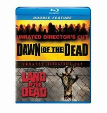 Blu Ray DAWN OF THE DEAD & LAND OF THE DEAD unrated. Region free. New sealed.