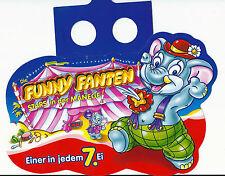 Ü-Ei Paletten Anhänger Die Funny Fanten Stars in der Manege  Ferrero 98 oder 99?