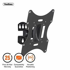 "VonHaus 19-42"" Tilt & Swivel TV Wall Mount Bracket - 30kg Weight Capacity"