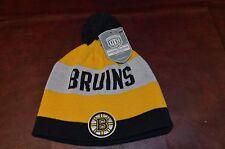 NWT Boston  Bruins NHL Hockey Beanie Knit  Hat Toboggan One Size Adult