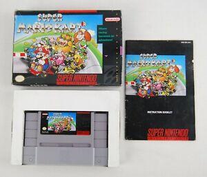 Super Mario Kart (SNES, 1992) Complete in Box - Authentic!